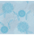 lacy blue flowers vector image vector image