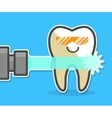 Laser teeth whitening concept vector image vector image
