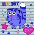 little cat vector image vector image