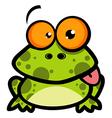 Little Frog Cartoon Character vector image vector image