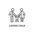loving child thin line icon sign symbol vector image vector image