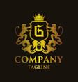 luxury letter g logo vector image vector image
