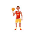 male basketball player professional sportsman vector image