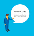 man with bubble speech vector image