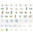 Mega collection of abstract company logo designs vector image vector image