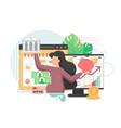 online deposits flat style design vector image