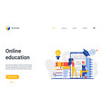online education landing page educational mobile vector image vector image