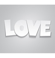Paper love word vector image