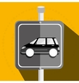 parking lot symbol notice vector image