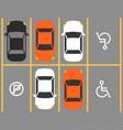 parking lot with disabled sign vector image