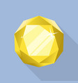 perfect citrine icon flat style vector image vector image