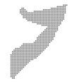 pixel map of somalia dotted map of somalia vector image vector image