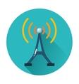 radio tower icon vector image vector image