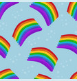 rainbows pattern on blue sky vector image vector image