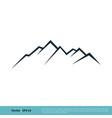 rock mountain icon logo template design eps 10 vector image vector image