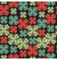 seamless pattern with abstract snowflake vector image vector image