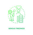 serious tiredness concept icon vector image