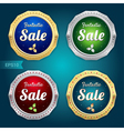 Set of sale tag label and badge vector image vector image