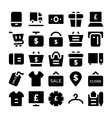 Shopping Icons 8 vector image vector image