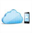Smartphone cloud computing vector image vector image