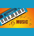 synthesizer musical instrument icon vector image vector image