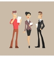 Three Office Workers vector image vector image