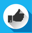 thumbs up white round buttons vector image vector image