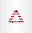 triangle link chain icon vector image vector image