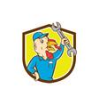 Turkey Mechanic Spanner Shield Cartoon vector image vector image