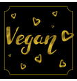 vegan logo card vector image