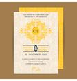 wedding invitation yellow vector image vector image