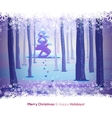Winter forest with snow frame vector image vector image
