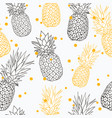 yellow grey pineapple polka dot summer vector image vector image