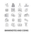 banknotes and coins money euro guilloche bank vector image
