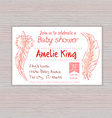 printable hand drawn of baby shower invitation vector image