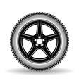 auto wheel black vector image