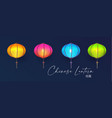 3d chinese lantern set asian holiday design vector image