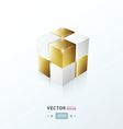 3D Cube Golden vector image vector image
