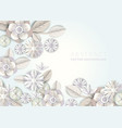 abstract white floral background white flower vector image