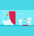 bathroom with furniture flat style vector image vector image