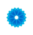 Blue circular pattern on vector image vector image