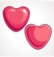 cartoon glitter pink heart and heart shape vector image vector image