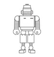 cartoon robot icon vector image vector image