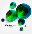 Circular Abstract Geometric Background vector image vector image