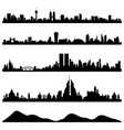 city skyline cityscape a skyline of big cities vector image