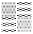 Collection of seamless repeating black dots vector image vector image