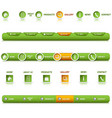 collection website navigation in green design vector image
