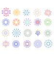 color fireworks festive sparkles carnival vector image vector image
