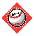 Color vintage baseball emblem vector image vector image