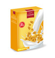 cornflakes package isolated realistic vector image vector image